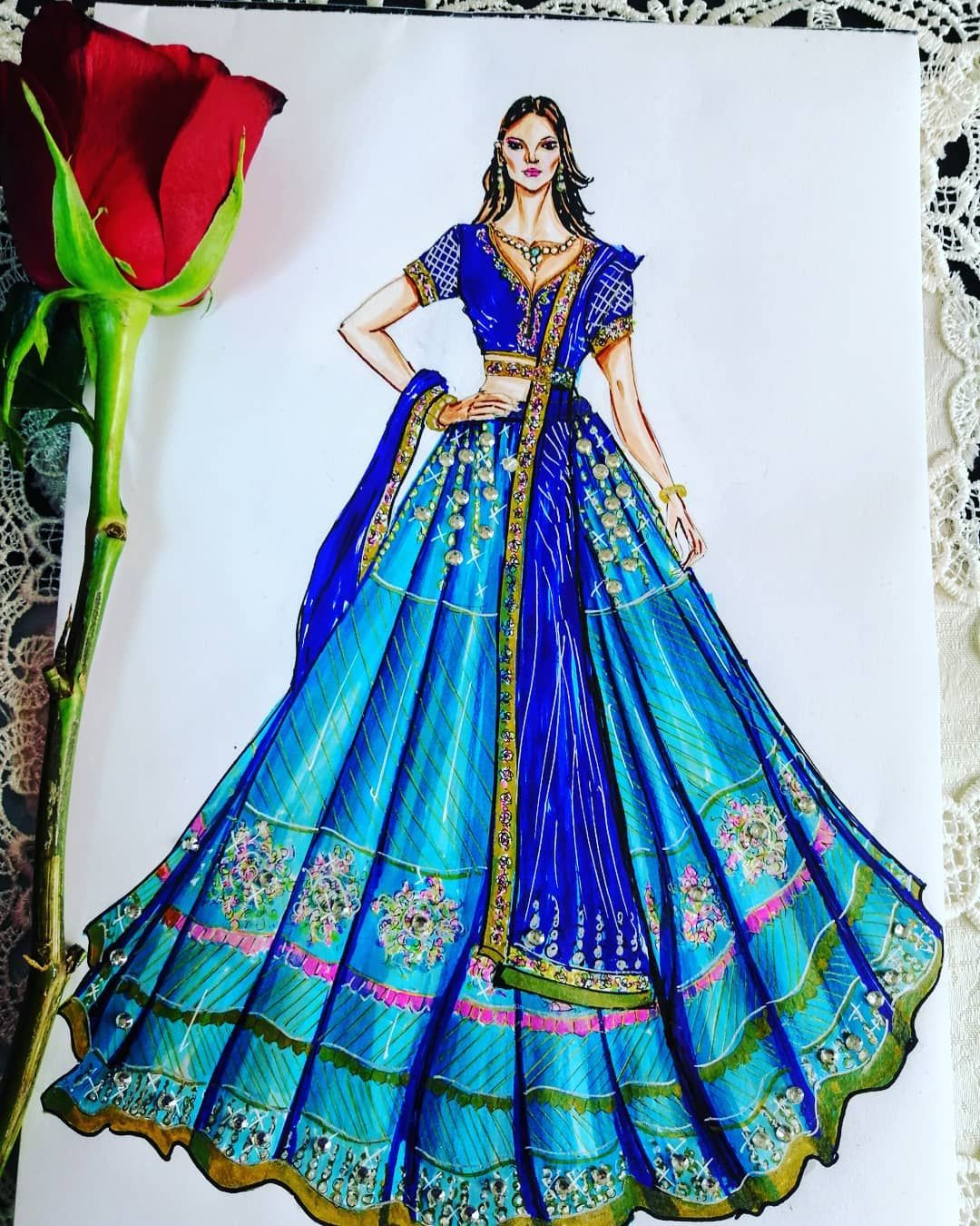 Buy Sketches Of Indian Dresses Cheap Online