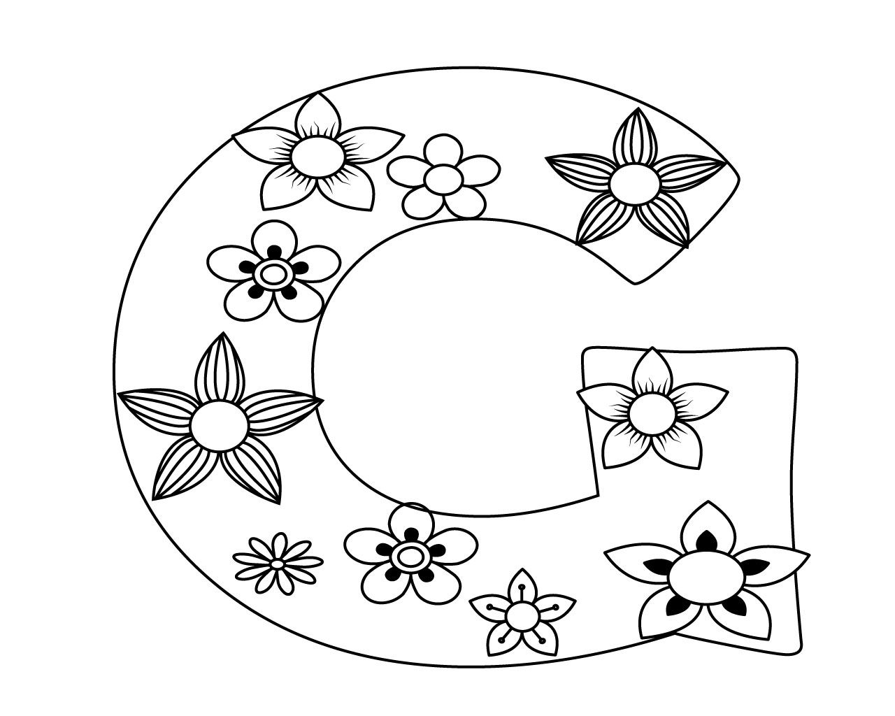 Letter G Coloring Pages For Your Lovely Toddlers Coloring Pages