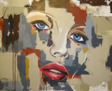"Saatchi Art Artist viviana drago; Painting, ""Lips"" #art"