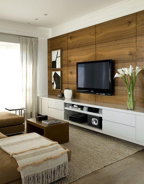 Decor sala de tv com home salas de tv televis o e salas for Ambiente design