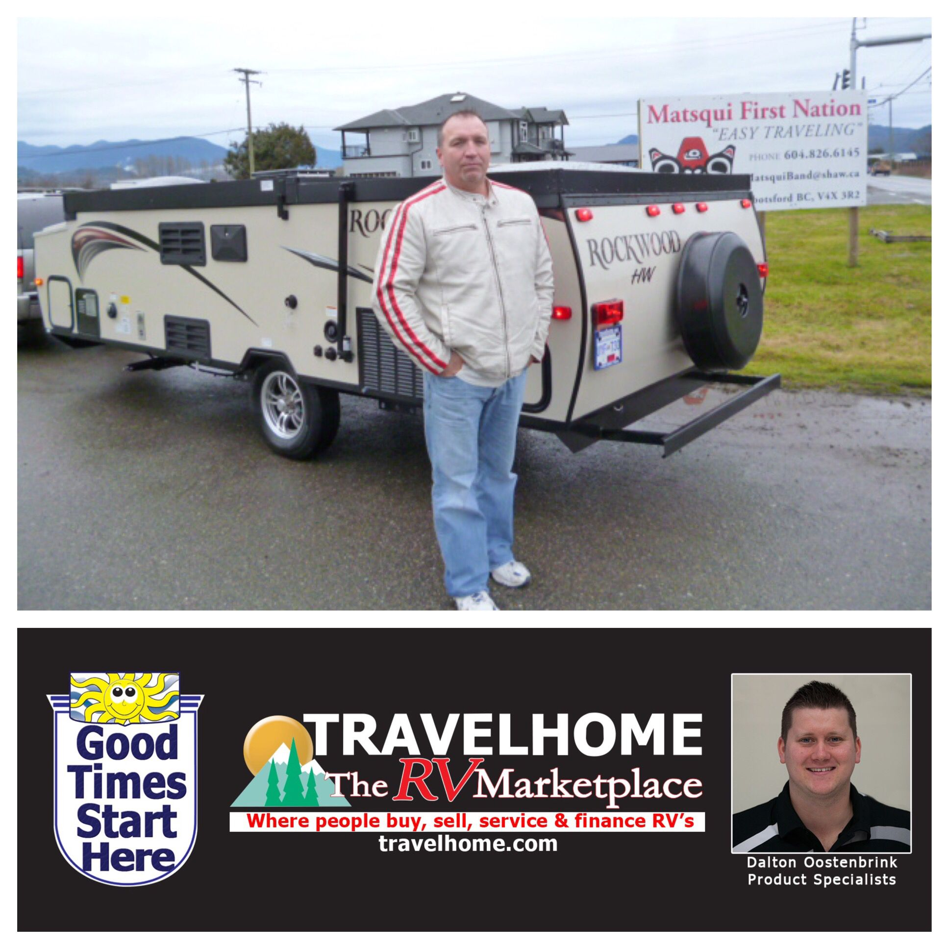 Congratulations to Rick on the purchase of his Rockwood