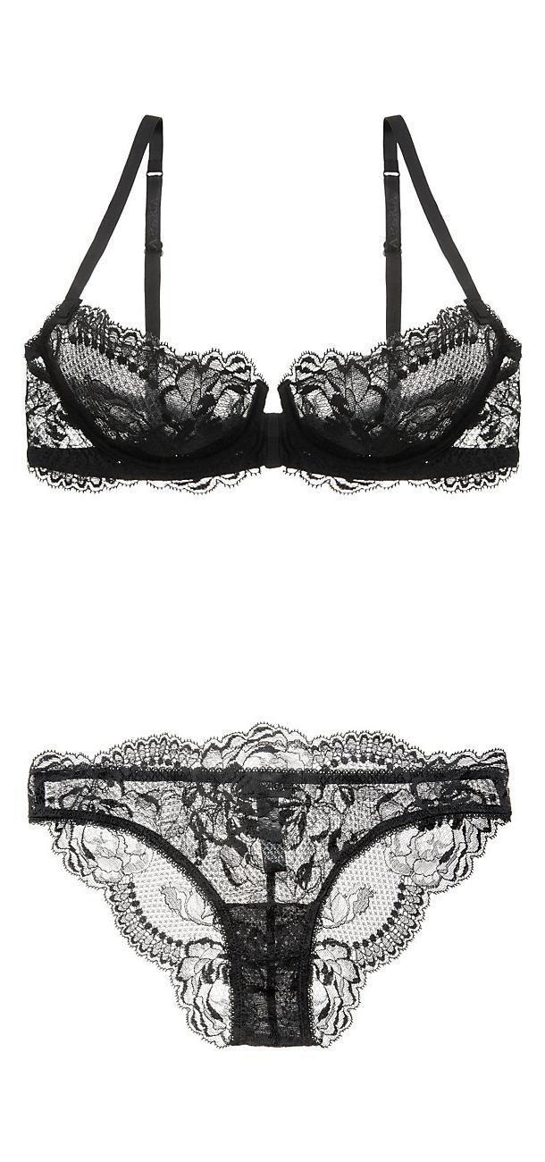 made2envy Sheer Mesh See-Through Long Sleeves Midi Cross Dress Set with Lace Panties