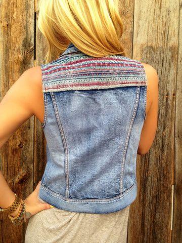 Embroidered Denim Vest – Lola Jeannine