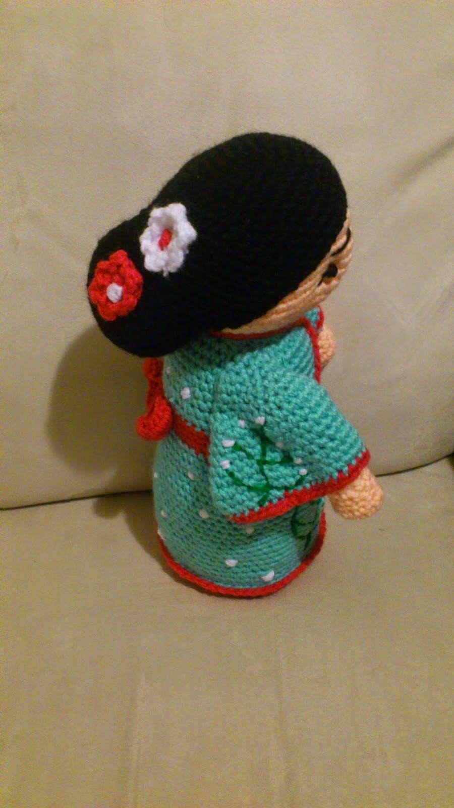 Amigurumi Geisha - FREE Crochet Pattern / Tutorial | Tejido O ...
