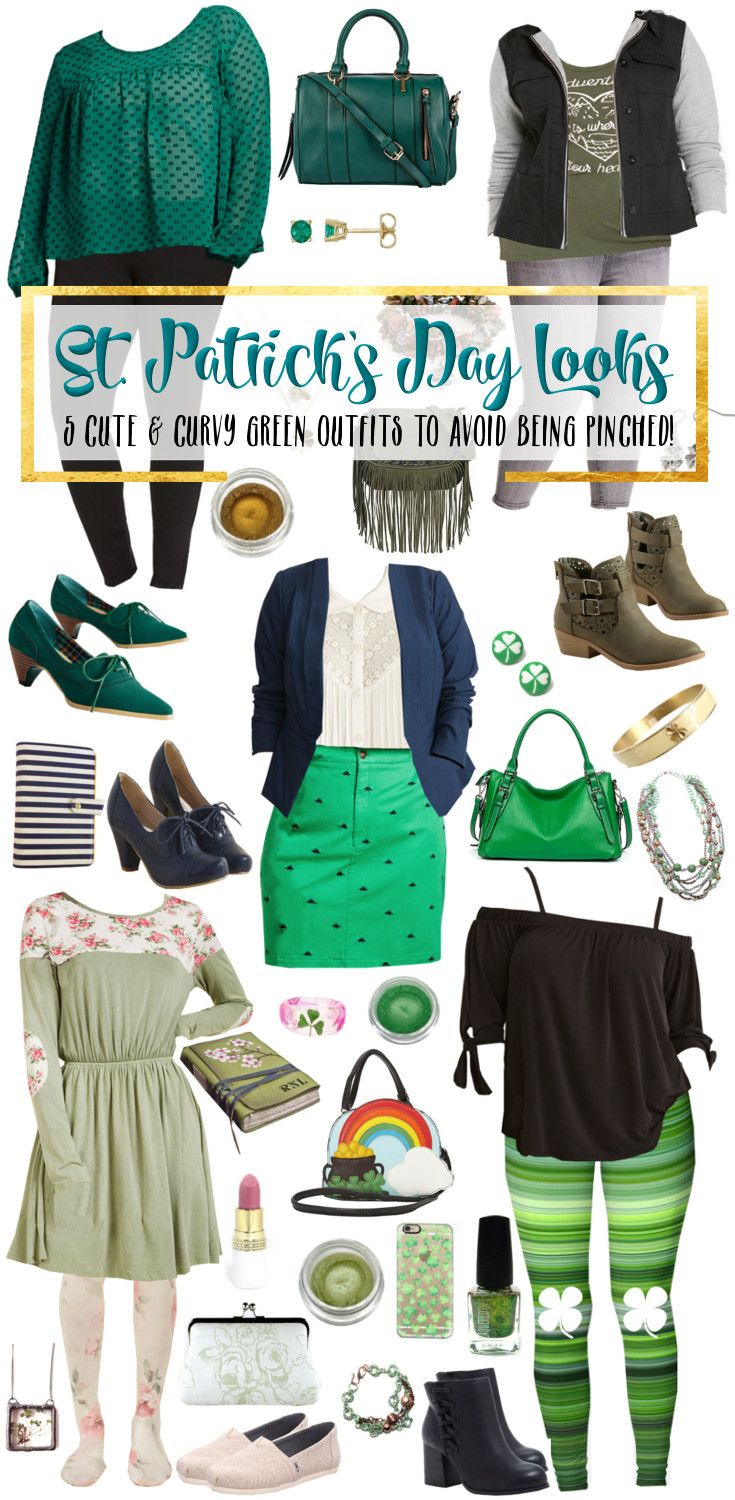 1b60639b31b8f8 Want to look super cute and rock some green for St. Patrick's Day? Here are  some adorable looks for all kinds of body types. Plus-Size and standard  sizes ...