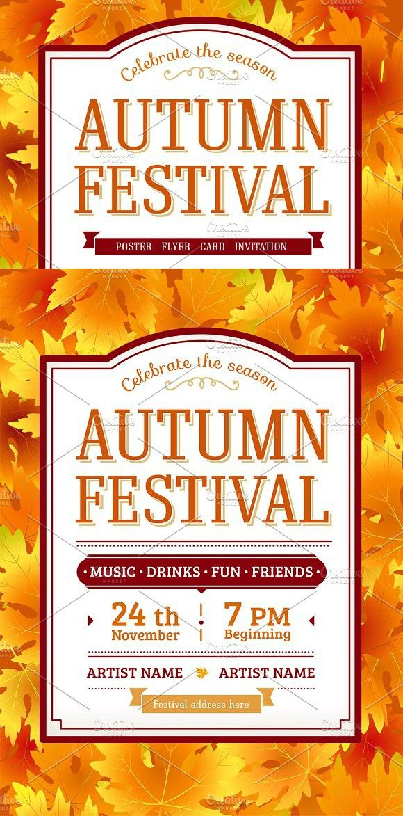 Fall leaves autumn festival poster pinterest festival posters fall leaves autumn festival poster thanksgiving invitations stopboris Images