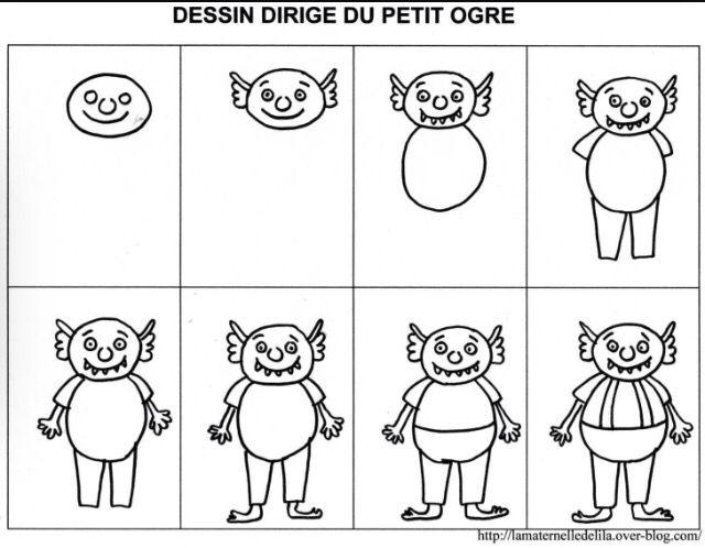 Dessin Dirige Ogre Petit Ogre Ogre Ogre Maternelle