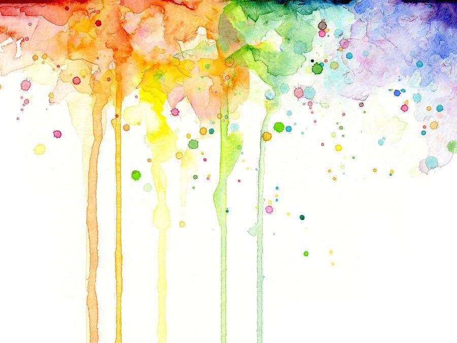 Watercolor Splatter Warna