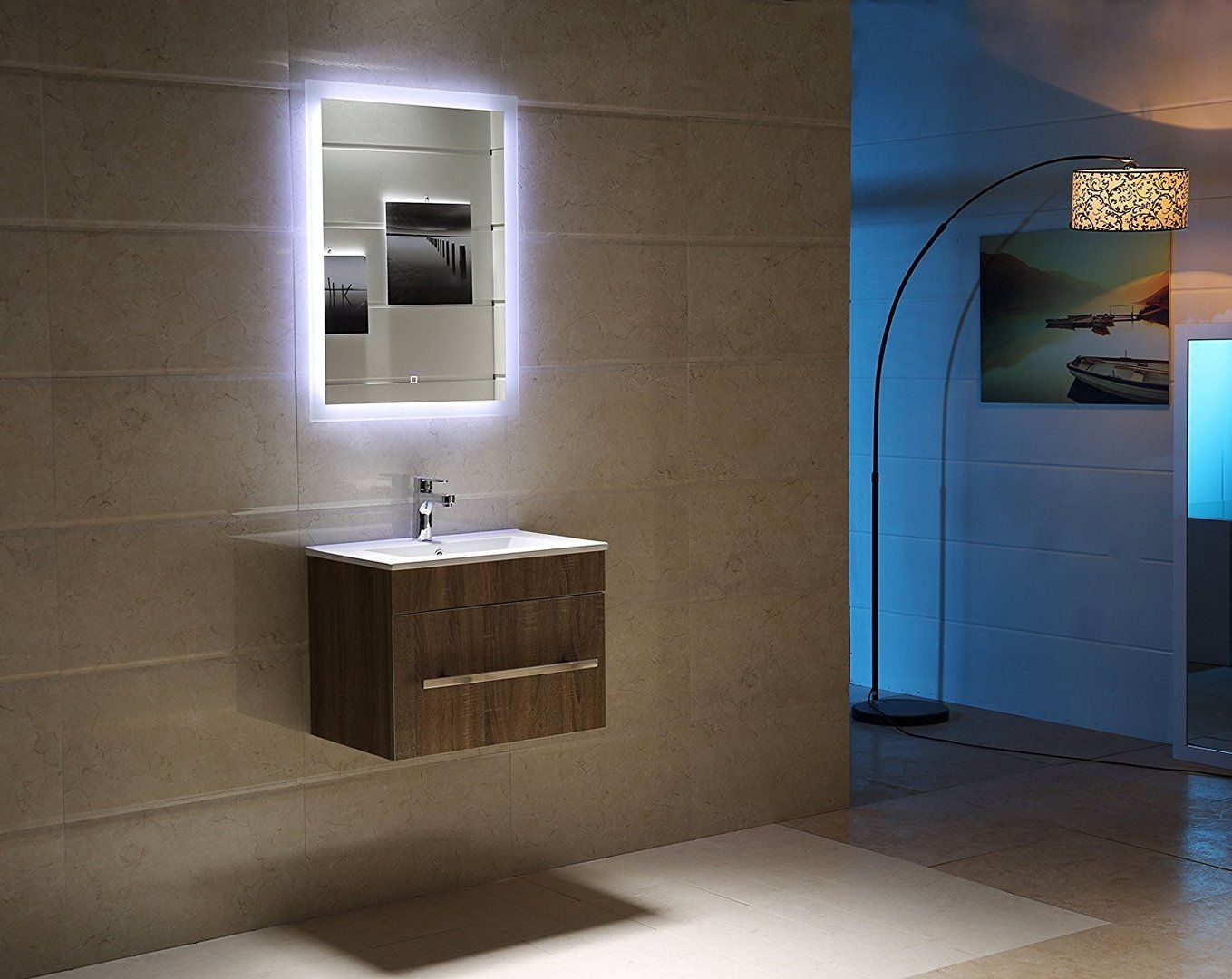 Led Lichtspiegel Padova Mit Touch Schalter Badezimmer Badspiegel Inneneinrichtung Bathroom Lichtspiegel Badezimmerspiegel Badezimmerspiegel Beleuchtung