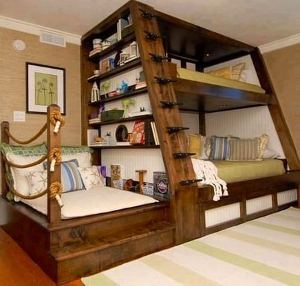Cool bed furniture via I love creative designs and unusual ideas on