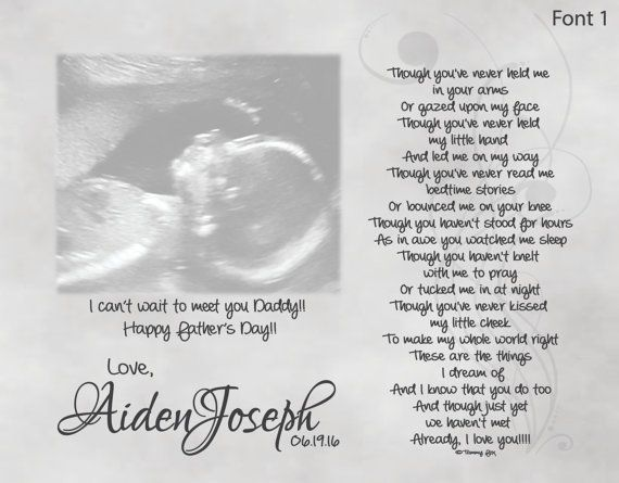 The Perfect Daddy To Be Fathers Day Birthday Christmas Or Just Because Gift For Expecting From Unborn Baby My Personalized Sonogram Poetry Print