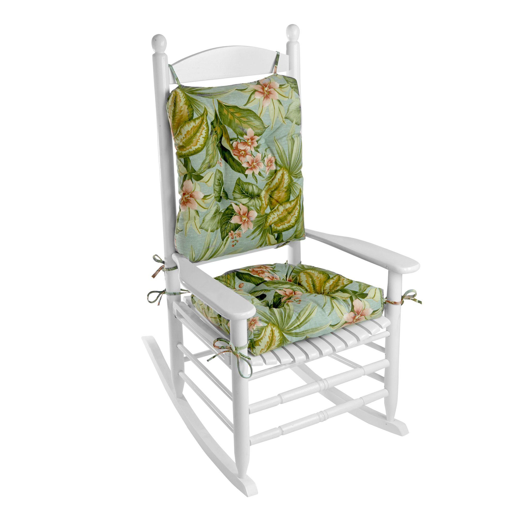 Outdoor 2 Piece Porch Rocking Chair Cushion Set Rocking