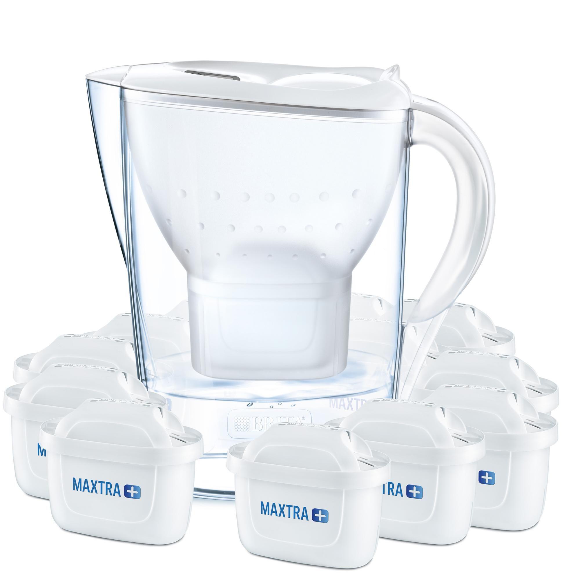 12 Maxtra Filterkartuschen Weiß Brita Wasserfilter Jahrespaket Marella inkl