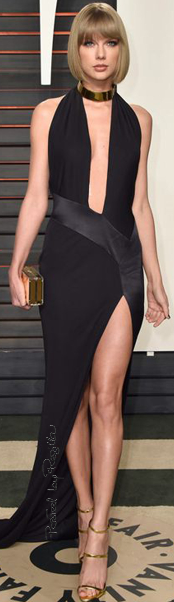 Regilla ⚜ Taylor Swift wearing an Alexandre Vauthier Black Halter Dress from the Spring 2013 Couture Collection