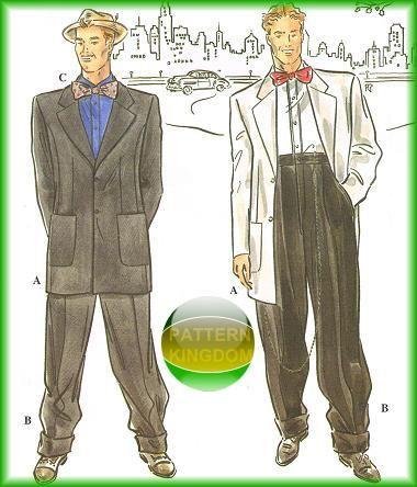 1930S Zoot Suit Retro Dinner Jacket Patterns | Retro { Men ...