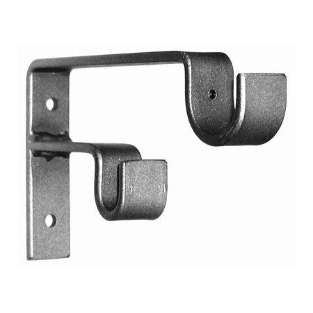 Ona Drapery Double Staggered Standard Wrought Iron Curtain Rod Bracket Curtain Rod Brackets