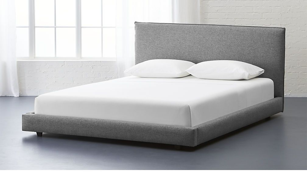 Facade Grey Upholstered Queen Bed Reviews Grey Upholstered Bed Bed Frame Headboard Bed Furniture