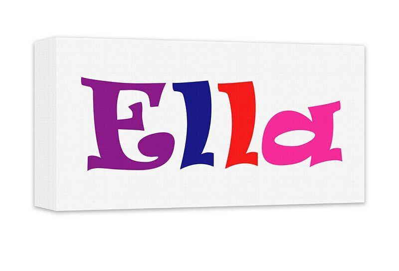 Girl Personalized Name Canvas Wall Art Panoramic | Canvases and Products