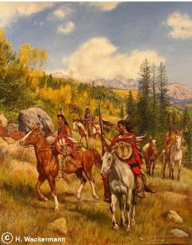 Hubert Wackermann, Originale Western Kunst (Ölbilder), mit Schwerpunkt auf Indianer