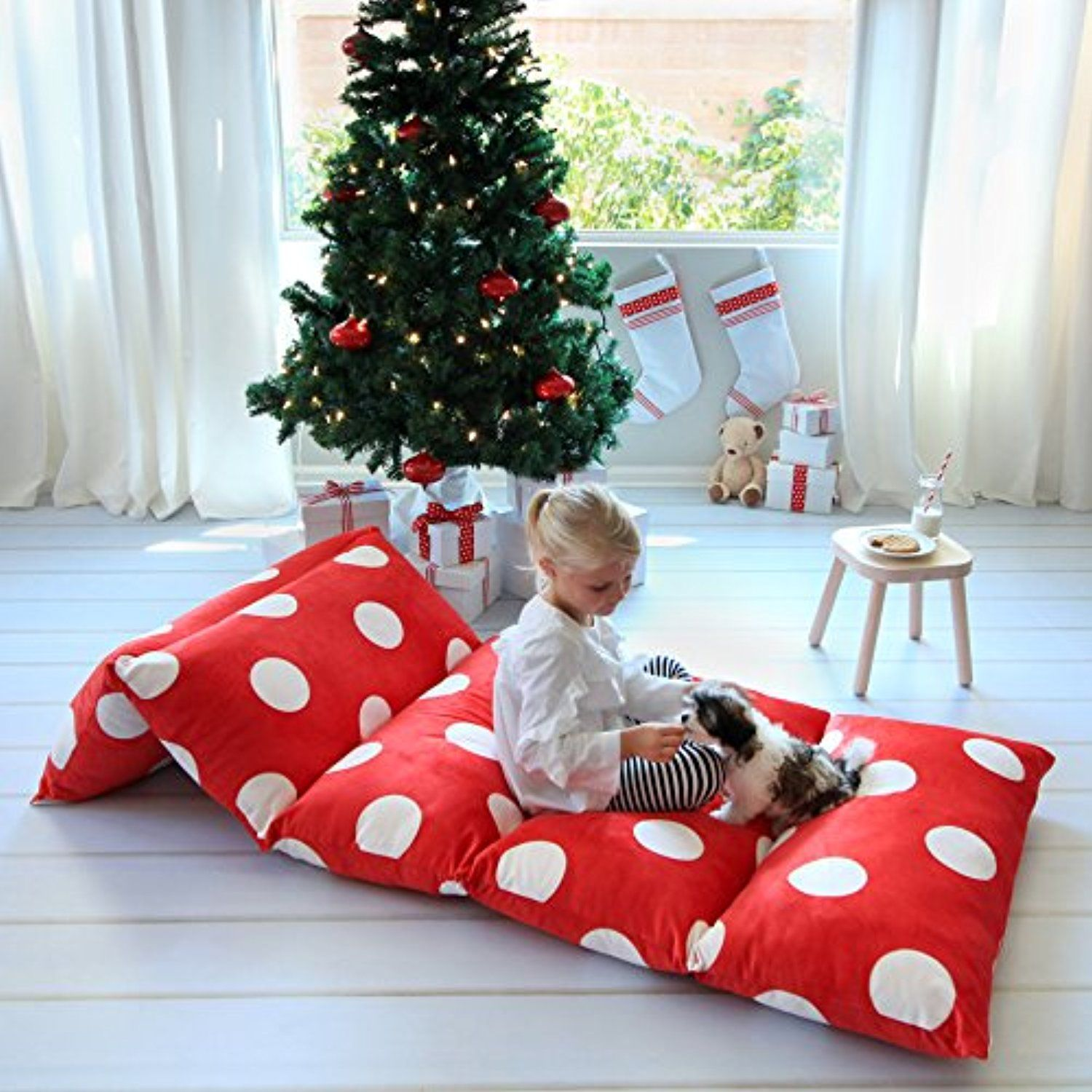 kid s floor pillow bed cover use as nap mat portable toddler bed