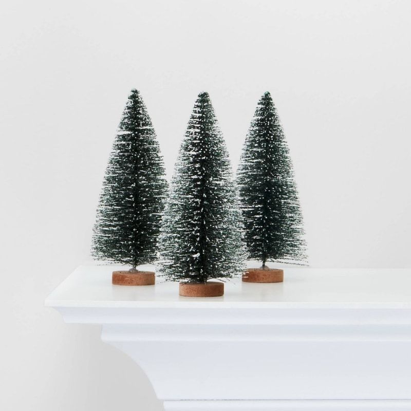The Best Bottle Brush Trees For Spicing Up Your Mantel Indoor Christmas Decorations Farmhouse Christmas Nostalgic Christmas Decorations