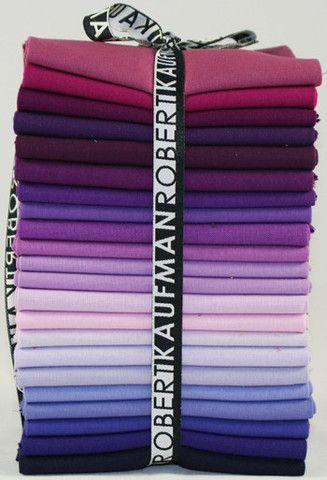 100/% Cotton 22 Fat Quarters Bundle Purple Shades