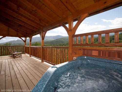 Dreams Come True - This Gatlinburg cabin offers spectacular views of the Smoky Mountains.