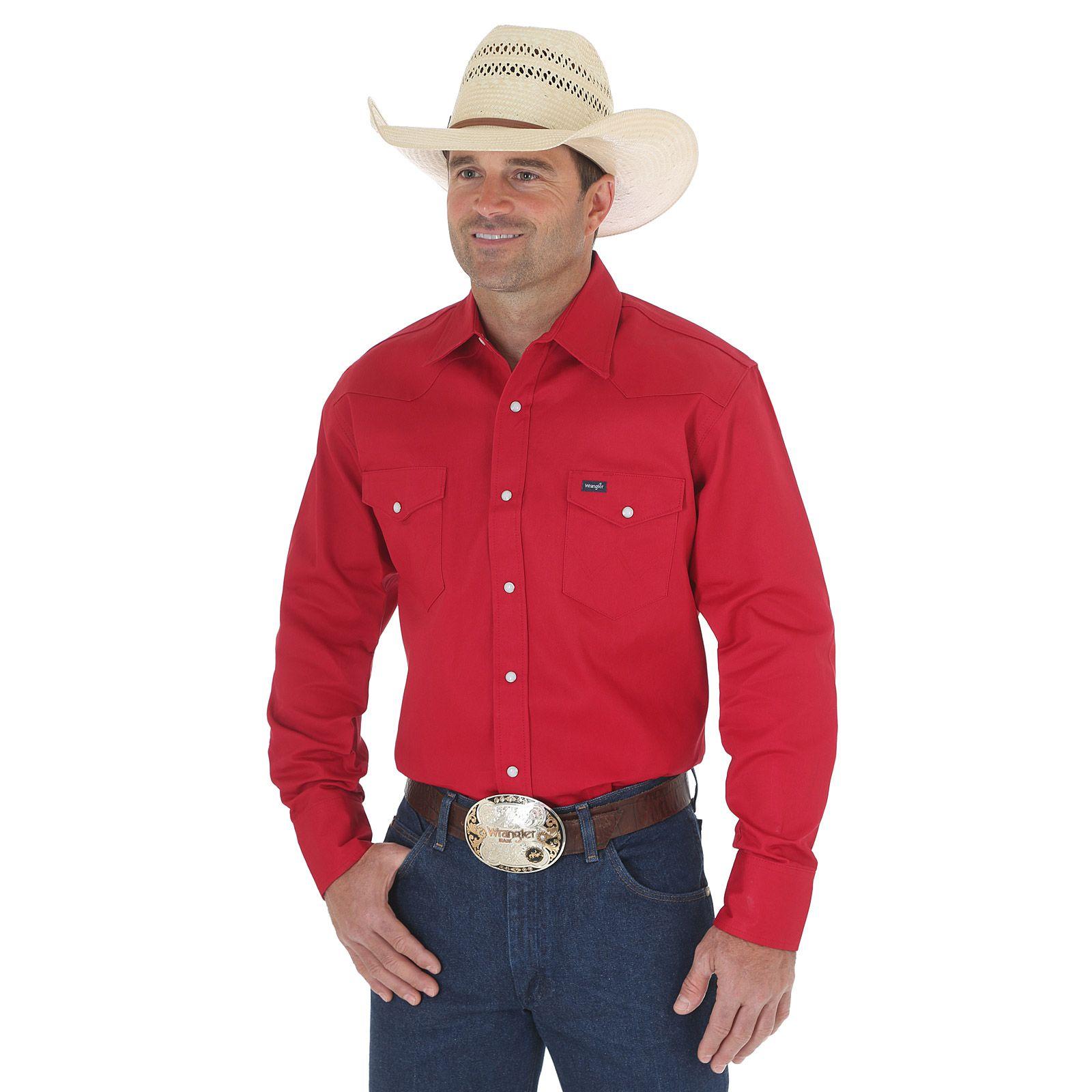 2bce7fd9 Cowboy Cut Firm Finish Twill Long Sleeve Work Western Shirt Men ...