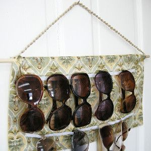 """DIY Sunglasses Holder - Short of Monica Geller from """"Friends,"""" a person who honestly loves to clean and organize is hard to come by. Everyone gets busy with work, kids, cooking, and generally running a household. Cleaning and organizing are put on the back burner and are left there as long as possible. However, the time always comes when the mess takes over and you must sit down and clean."""