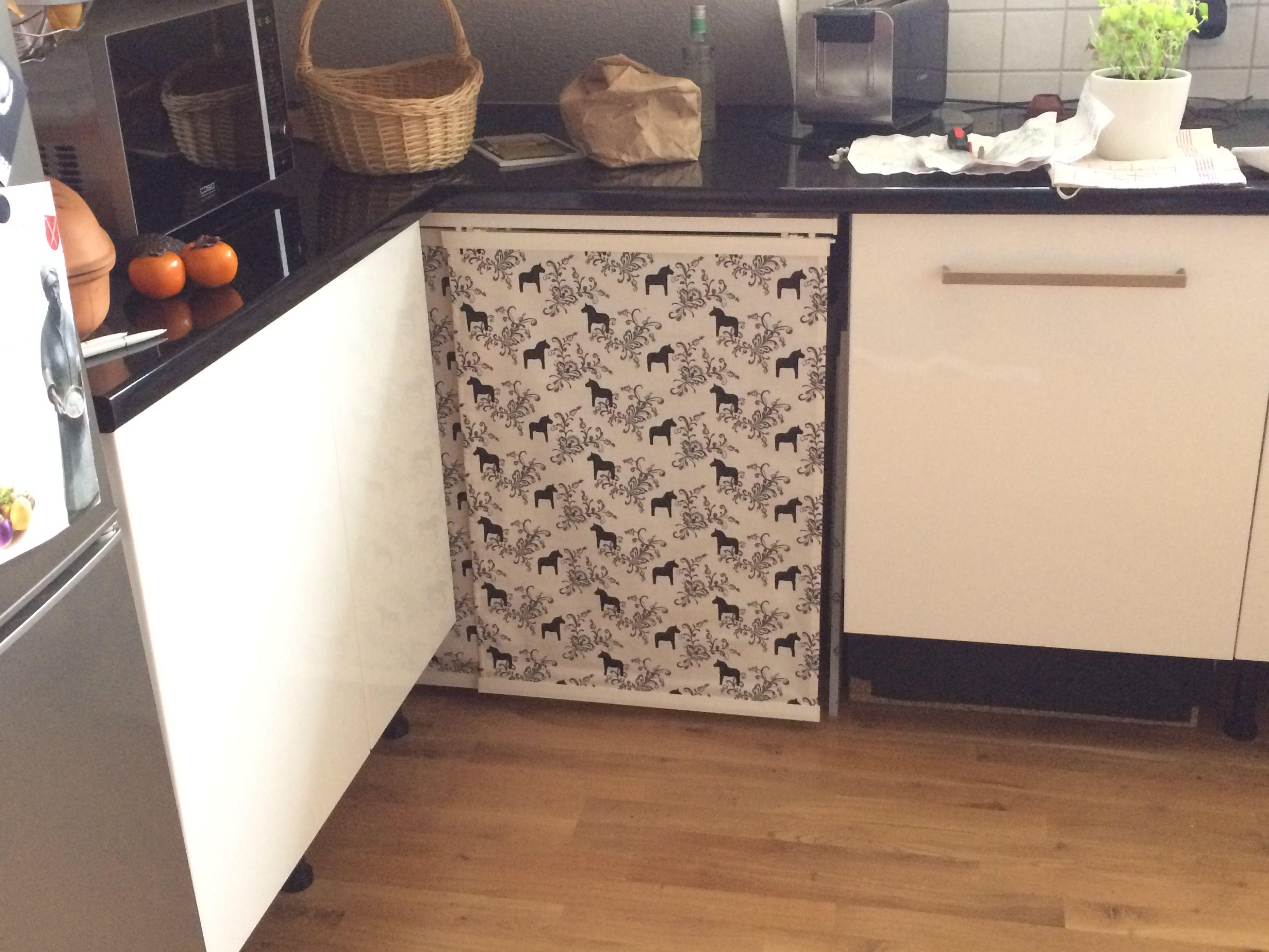 Gardine Unter Arbeitsplatte Um Mulleimer Zu Verstecken Mulleimer Kuche Arbeitsplatte Kuche Renovieren