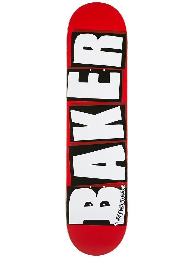 Baker Brand Logo Skateboard Deck 7 56 Red White Logo Branding