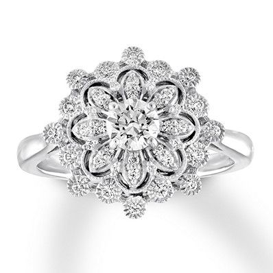 ed21240a3a208 Diamond Engagement Ring 1/2 ct tw Round-cut 14K White Gold