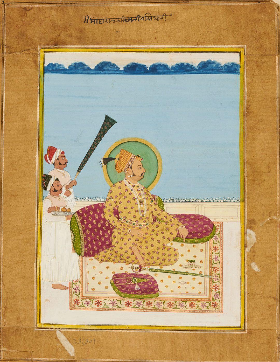 Portrait Of Maharaja Ajit Singh Ca 1830 Seattle Art Royal Art
