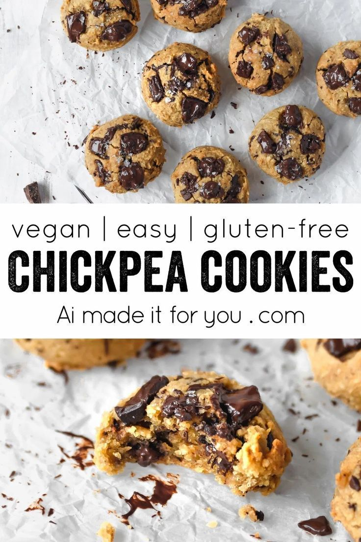 Chickpea Chocolate Chip Cookies - Ai made it for y