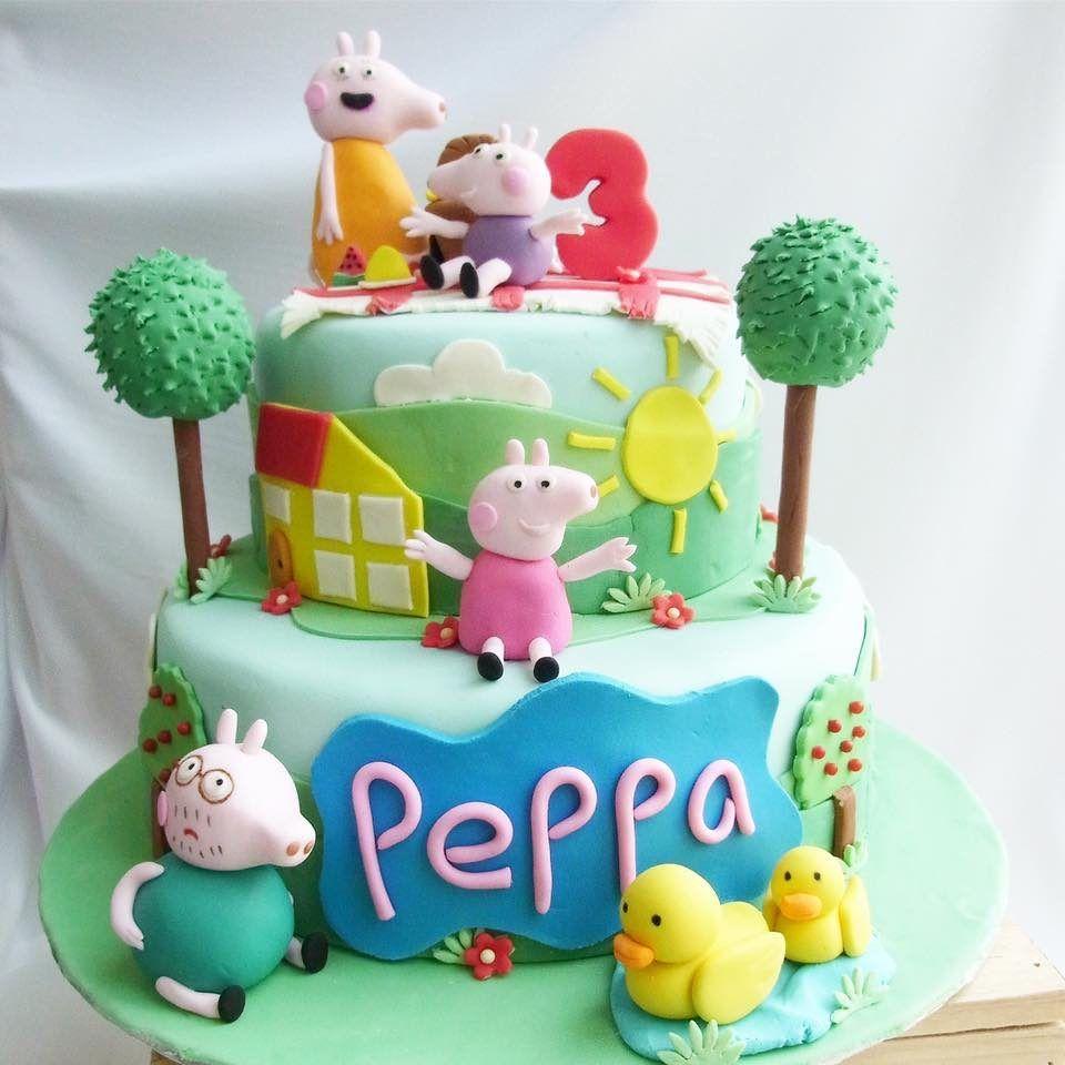 peppa pig birthday cake ideas