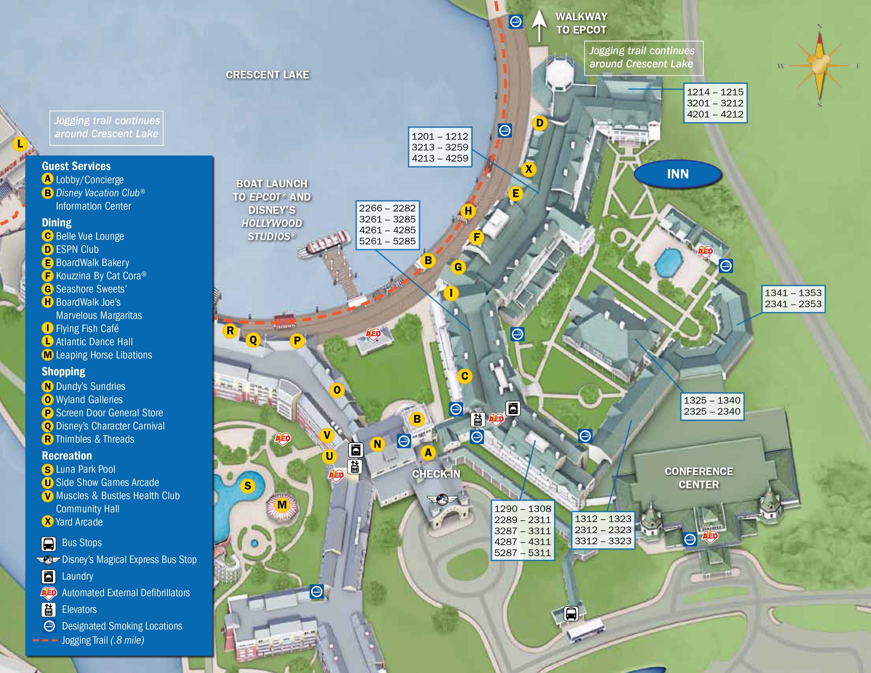 Boardwalk Resort Map | Disney World | Pinterest | Disney world ...