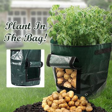 Potato Grow Planter PE Container Bag Pouch Root Plant Growing Cultivation Boxs