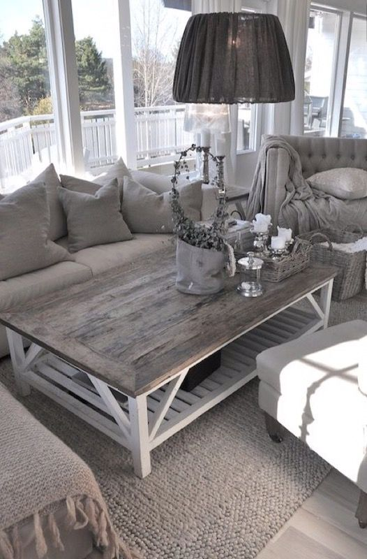 Gray And White Transitional Rustic Living Room With: Rustic Barn Coffee Table For Sale In Phoenix, AZ In 2019
