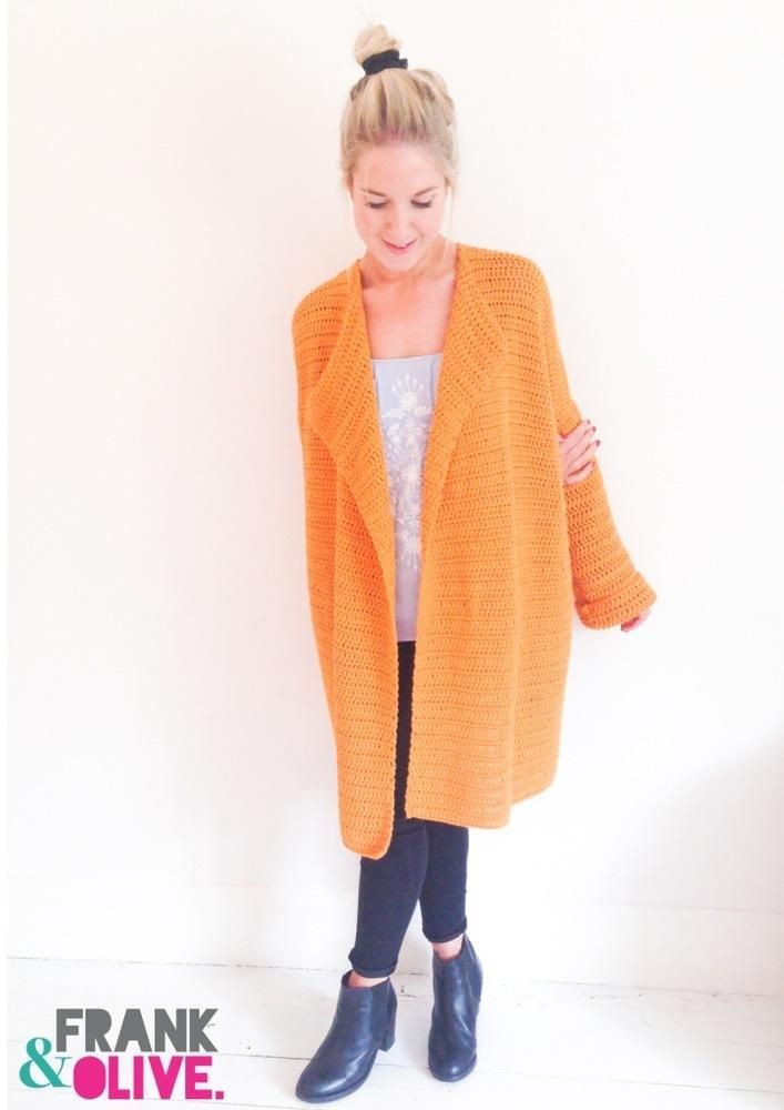 Frank&Olive Oversized Cardigan Crochet pattern by Frank&Olive | Crochet Patterns | LoveCrochet