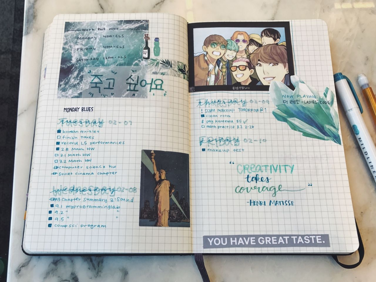 Kpop Bullet Journal Tumblr Bullet Journal Ideas Pages Journal Inspiration Bullet Journal Aesthetic