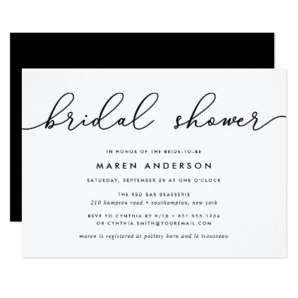 gin lane bridal shower invitation calligraphy gifts custom personalize diy create your own