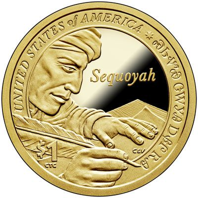 US One Dollar Coin 2017-P  BU Mint State Sacagawea//Native American