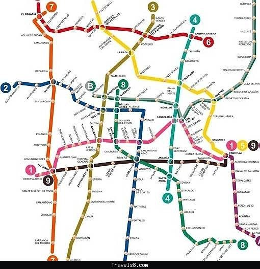 mexico citys metro map began with meandering route lines and the faint markings of roads to reflect the citys geography only the former trait has been