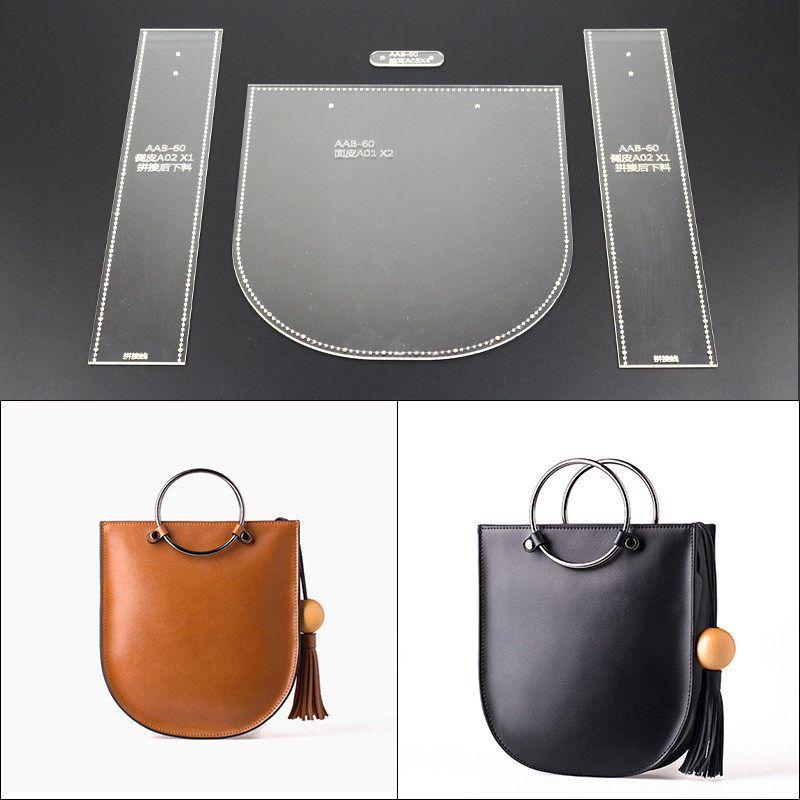 DONYAMY 1 대 핸드백 메신저 가방 아크릴 가죽 핸드백 템플릿 Leathercraft 패턴 DIY 취미 #hobbys