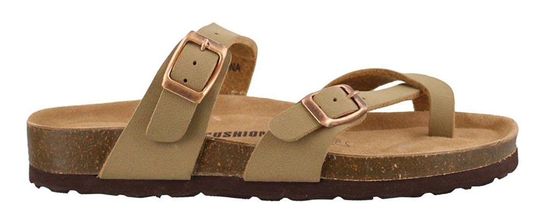 Spring Step Womens Style Onaona Leather Slide Sandal