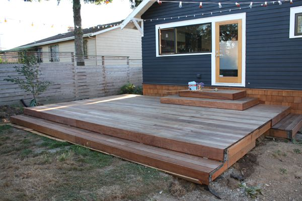 Step Down Floating Deck Could Be Nice Would Need Long And Thin