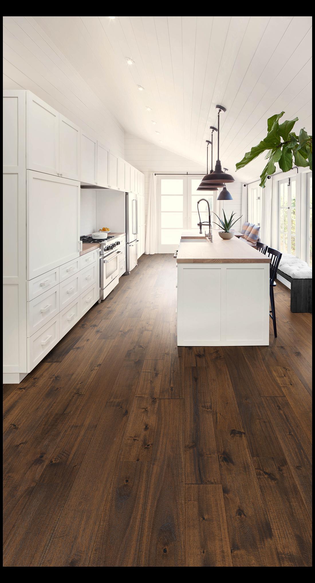 21++ Dark hardwood floors with white cabinets inspirations