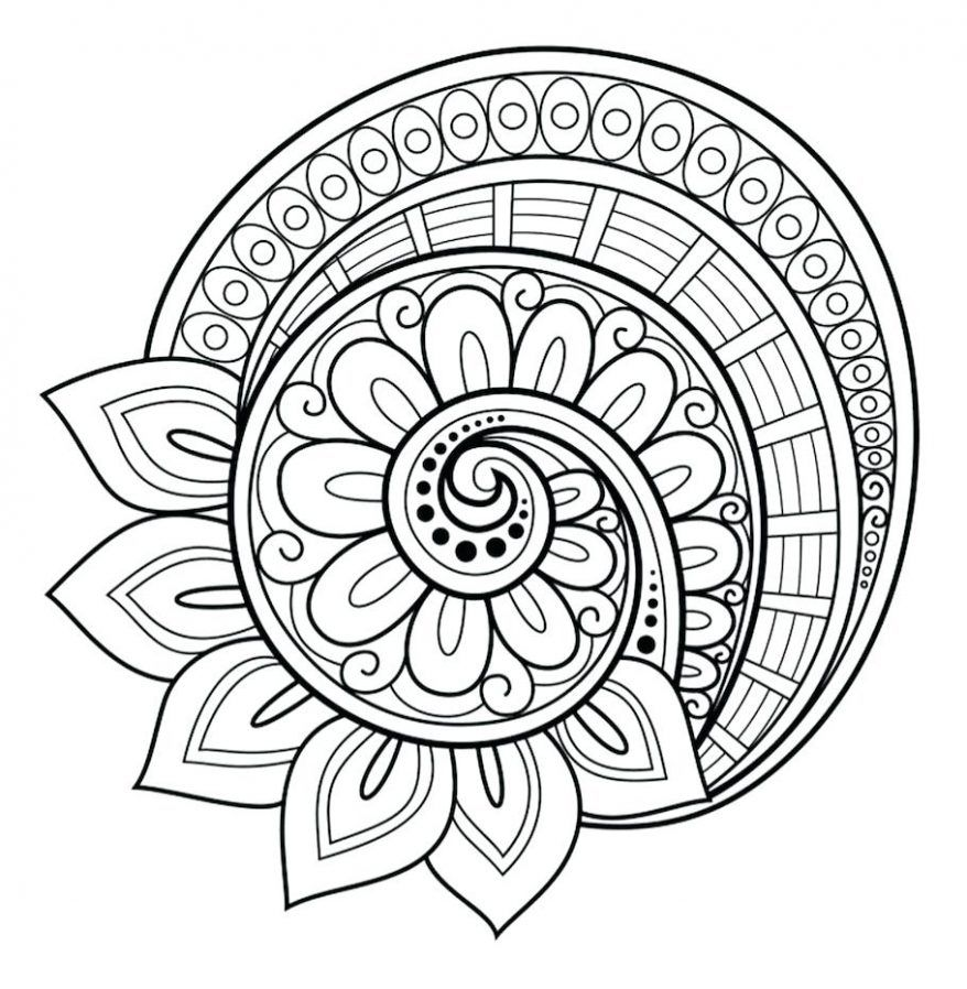 Coloring Rocks Abstract Coloring Pages Mandala Coloring Pages Mandala Printable