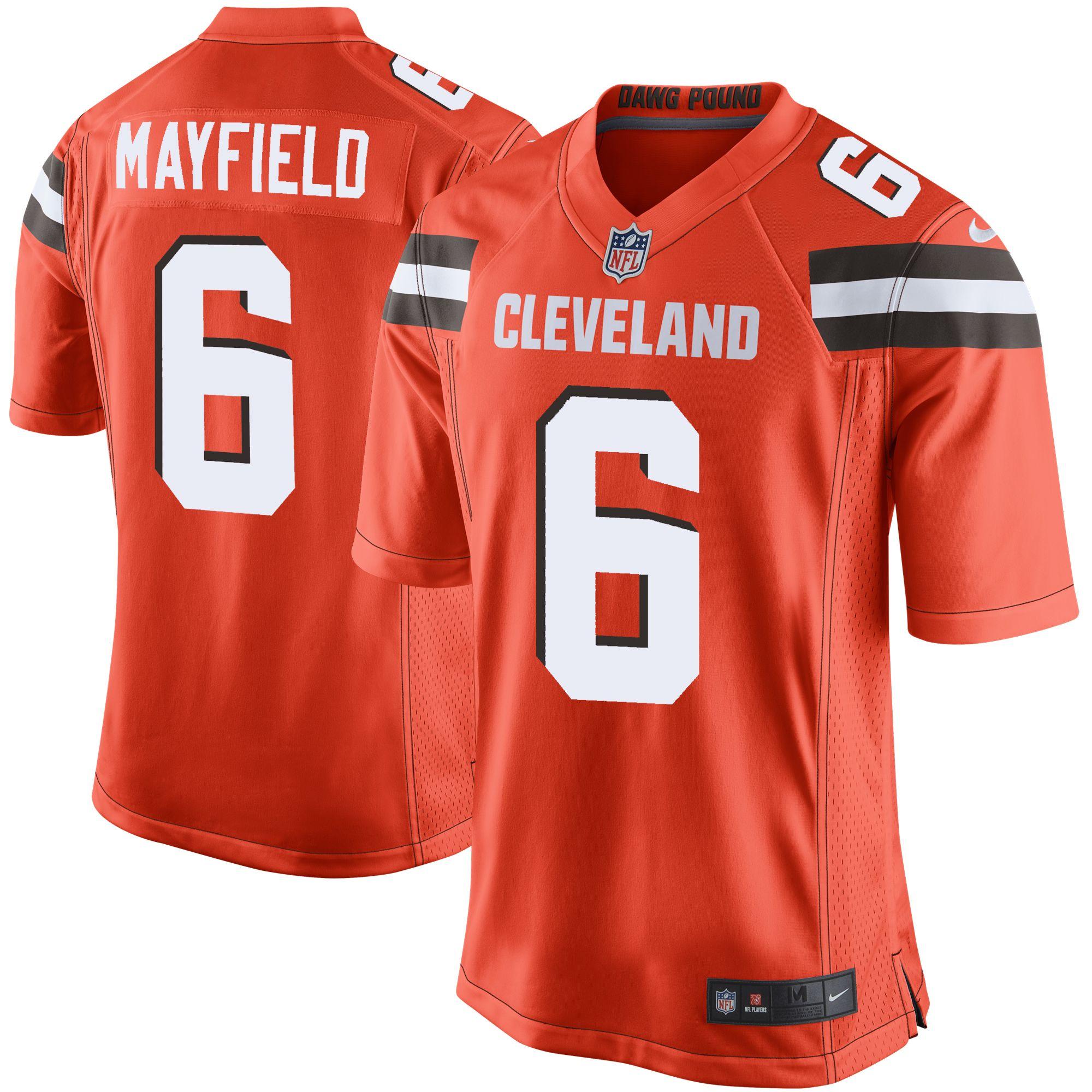 baker mayfield jersey large