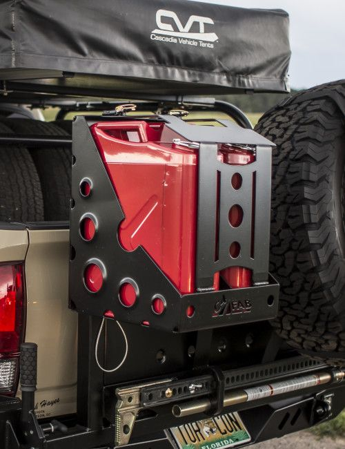 Dual Jerry Can Holder Jerry Can Work Truck Storage Jeep Tire